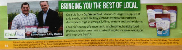 Chia bia now available nationwide in all Tesco Stores!
