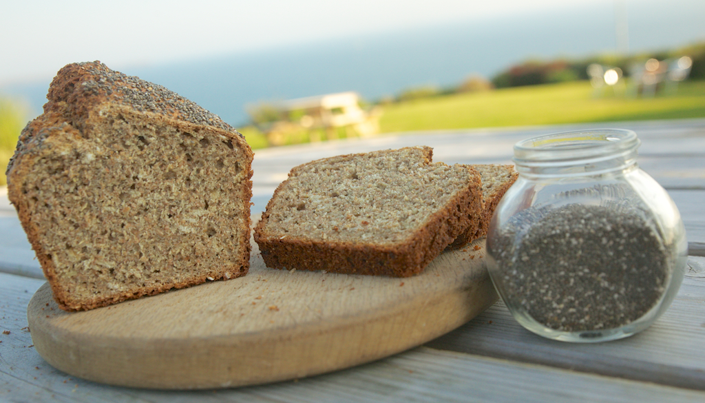 Delicious healthy Chia bia brown soda bread