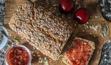 Four Seed Wholemeal Bread & White Chia Spiced Plum Jam