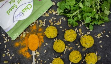 Baked Four Seed Turmeric Falafel