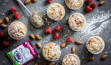 Almond & Raspberry Chia Muffins
