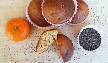 Vegan Orange and Chia Seed Muffins