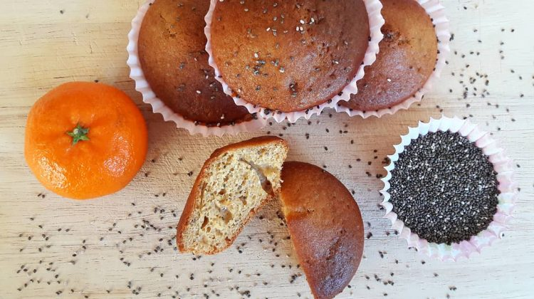 Vegan Orange and Chia Seed Muffins