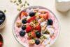 Summer Strawberry Cream Chia Smoothie Bowl